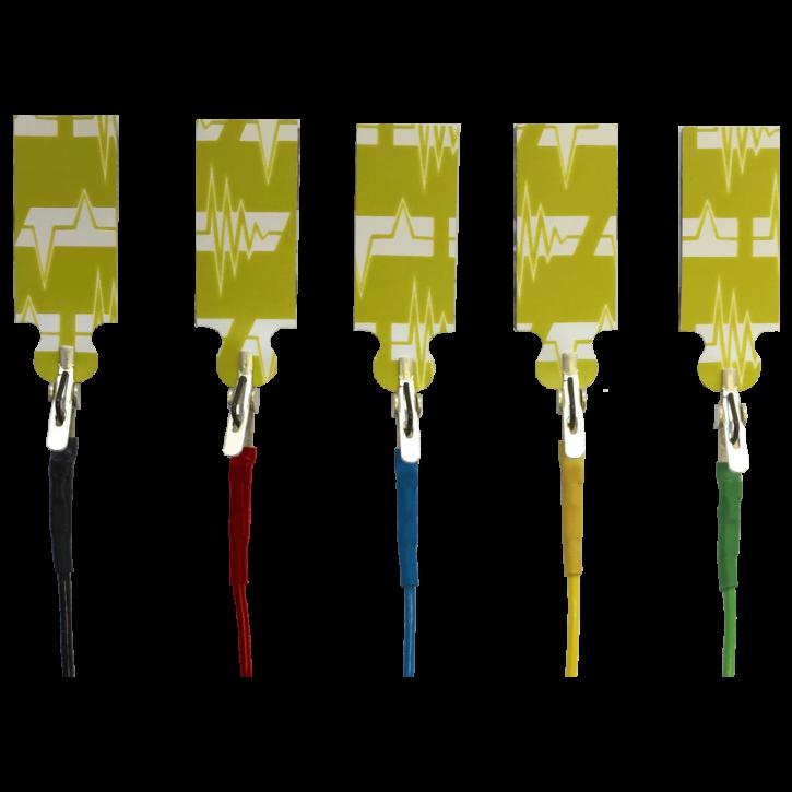 Elektrodenkabel mit Mini-Krokodilklemmen bundle