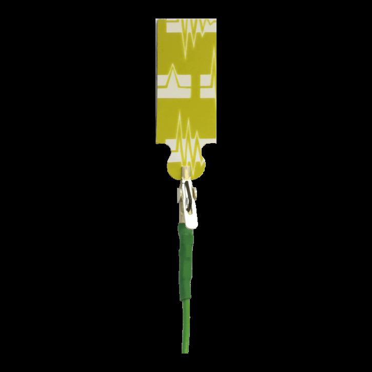 Elektrodenkabel mit Mini-Krokodilklemmen grün