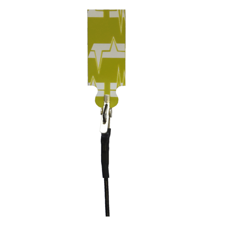 Elektrodenkabel mit Mini-Krokodilklemmen schwarz