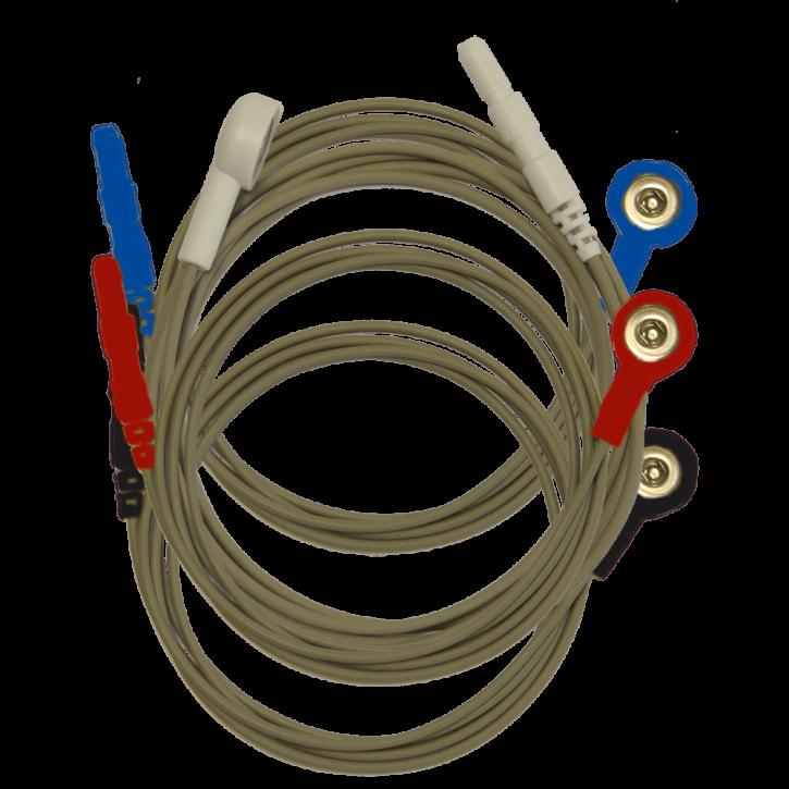 Elektrodenkabel mit Druckknopf 4 Stück